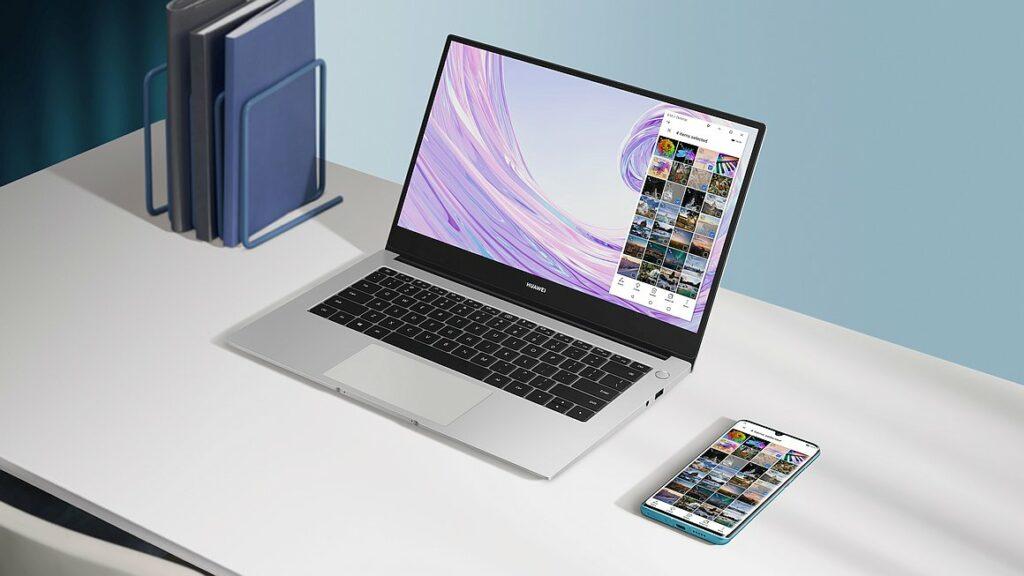 MateBook D 14 Silver Multi screen Collabration