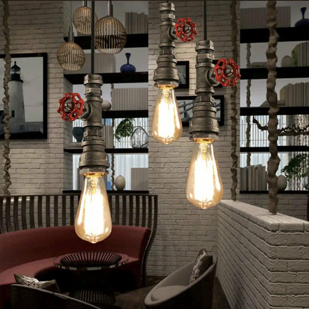 Steampunk LED lampa 4