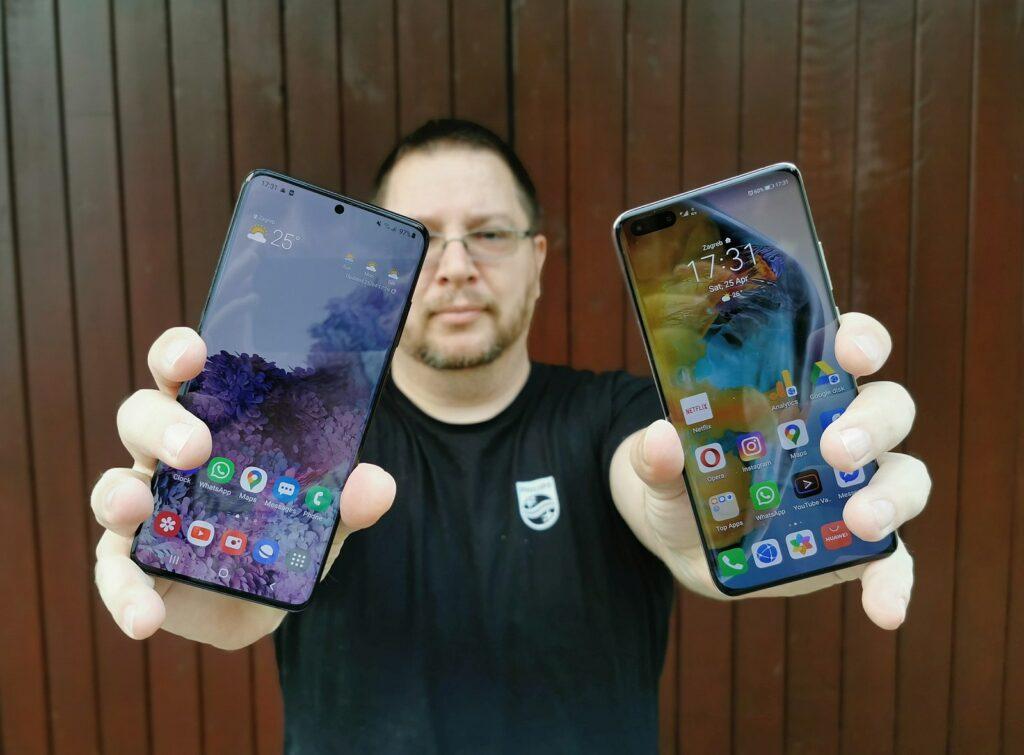 Samsung Galaxy S20 vs Huawei P40 Pro 8