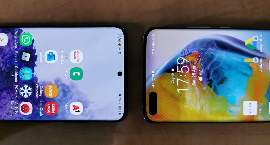 Samsung Galaxy S20 vs Huawei P40 Pro 9 e1587834897600