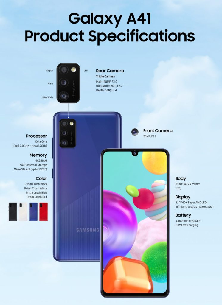Galaxy A41 specifikacije e1589975098663