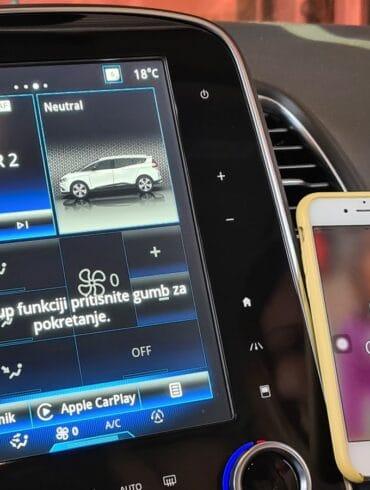 Apple CarPlay u Renault Grand Scenic 3