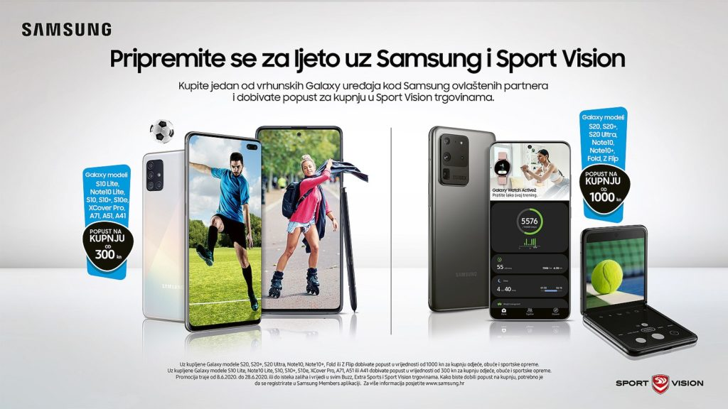 Spremniji nego ikad za ljeto uz Samsung i Sport Vision