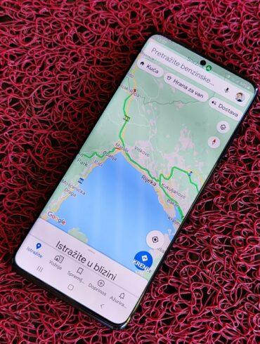 Galaxy S20 Google Maps 1