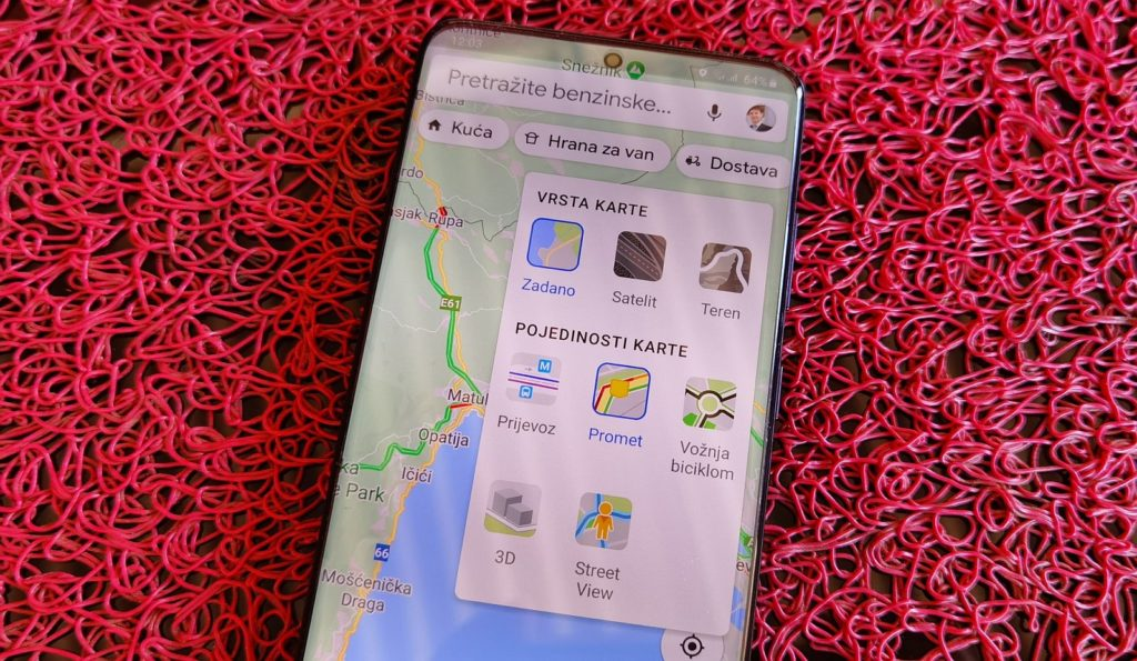 Galaxy S20 Google Maps 2
