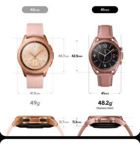 Infografika Galaxy Watch vs Galaxy Watch 3 dimenzije 2