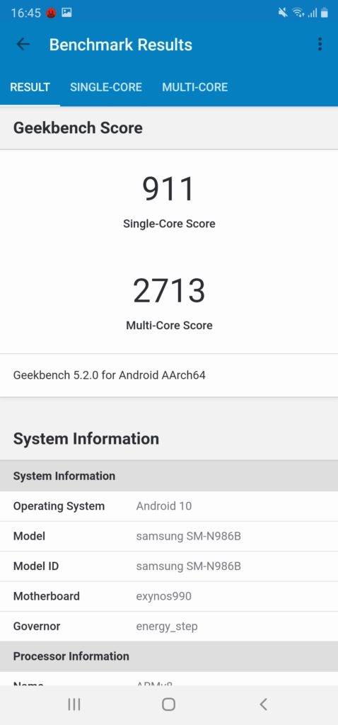 Screenshot 20200905 164503 Geekbench 5
