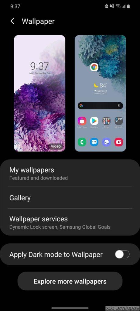 Samsung One UI 3.0 Beta on Galaxy S20 48