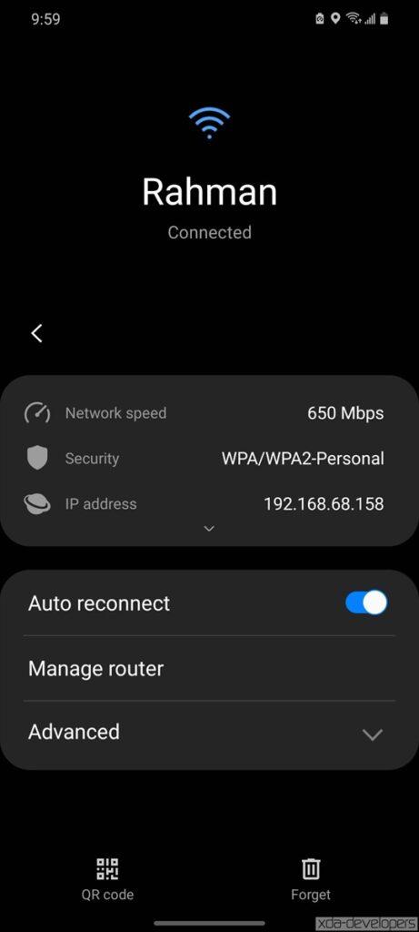 Samsung One UI 3.0 Beta on Galaxy S20 78
