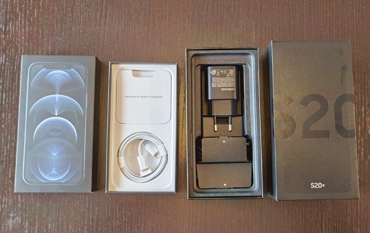 Apple iPhone 12 Pro i Samsung Galaxy S20 2