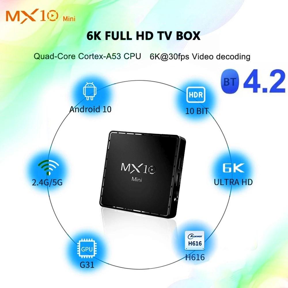 MX10 Android TV box 3