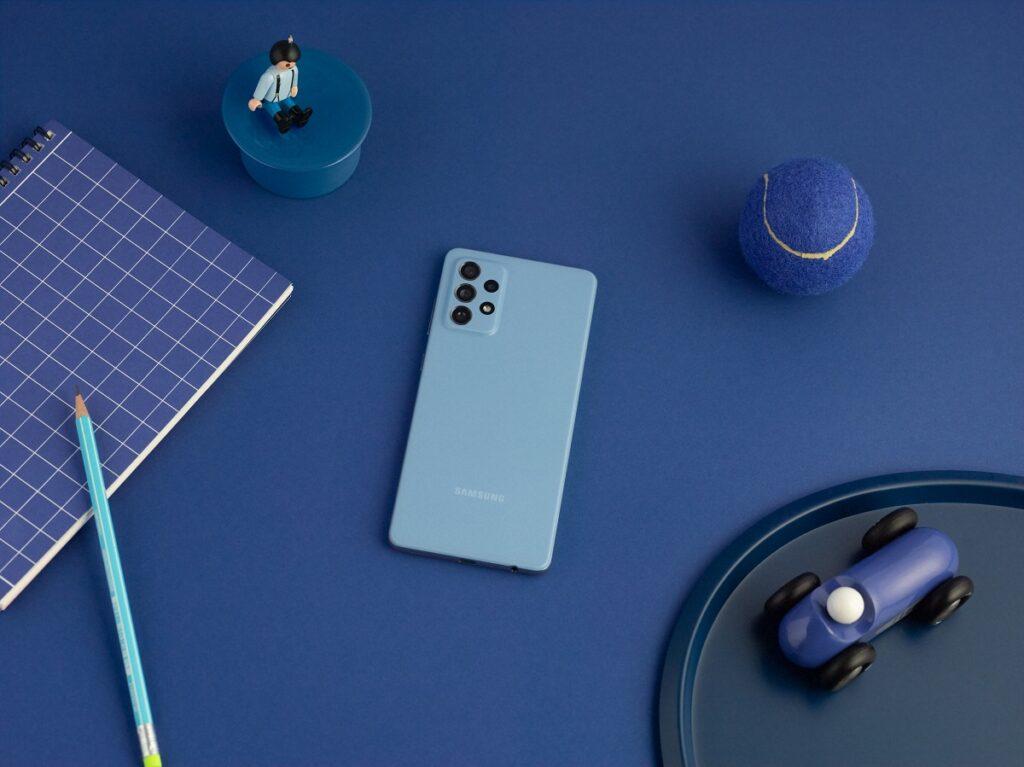 Galaxy A72 lifestyle blue