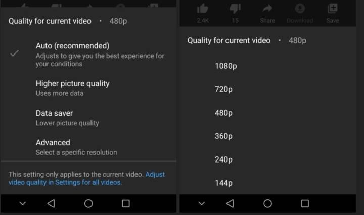 YouTube kvaliteta