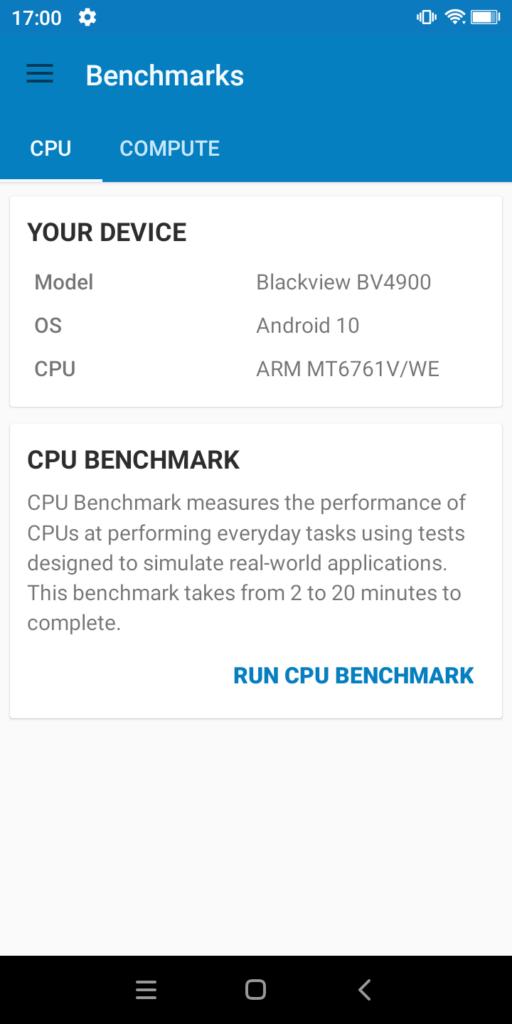 Blackview BV4900 Benchmark #